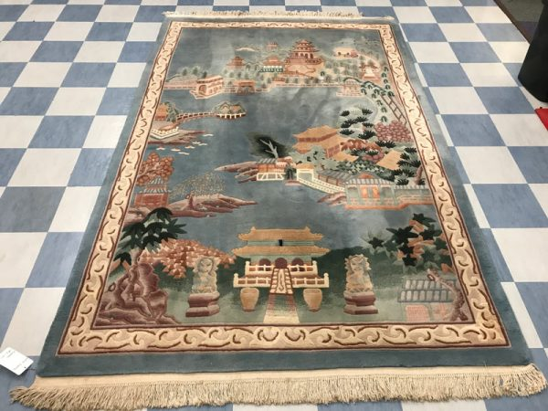 before chinese rug cleaning